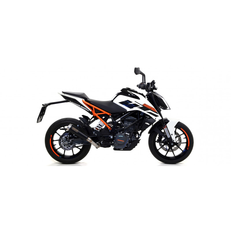 echappement arrow pro race dark ktm duke 125 et 390 2017 18 avsmoto racing parts. Black Bedroom Furniture Sets. Home Design Ideas