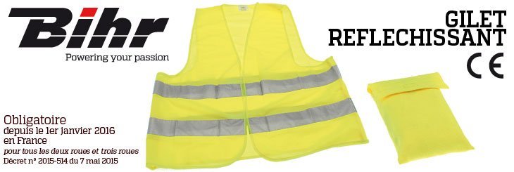 gilet r flechissant jaune xl avsmoto racing parts. Black Bedroom Furniture Sets. Home Design Ideas
